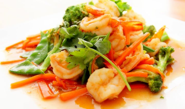 Vegetables With Prawns and Coriander